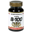 Vitamin Super B-100 (Balanced B Complex), 60 Tablets