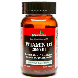 Futurebiotics- Vitamin D3-2000IU, 120 softgels
