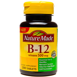 Nature Made- Vitamin B-12 500mcg, 200 Tablets