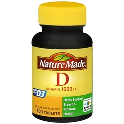 Nature Made- Vitamin D-1000IU, 100 Tablets