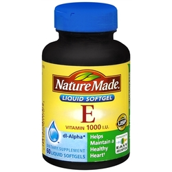 Nature Made- Vitamin E-1000IU Dl-Alpha, 60 Softgels