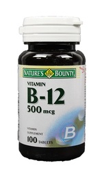 Nature's Bounty- Vitamin B-12, 500 mcg, 100 tablets