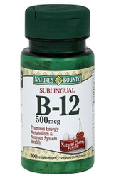 Nature's Bounty- Vitamin B-12, Sublingual Dots Microlozenge, 500 mcg, 100 Microlozenges