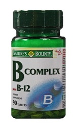 Nature's Bounty- Vitamin B-Complex & Vitamin B-12, 90 tablets