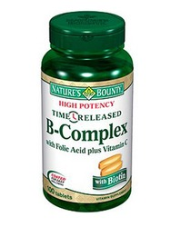 Nature's Bounty- Vitamin B-Complex with Folic Acid plus Vitamin C TR, 100 tablets
