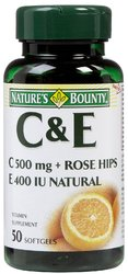 Nature's Bounty- Vitamin C & Vitamin E, 500mg/400IU, 50 softgels
