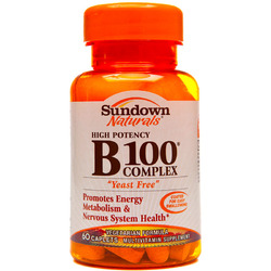 Sundown Naturals- Vitamin B-100, Yeast Free, 60 tablets