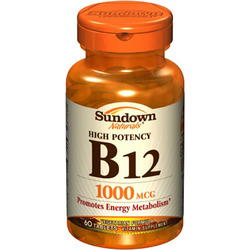 Sundown Naturals- Vitamin B-12, 1000mcg, 60 tablets