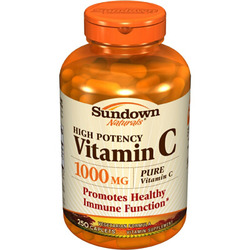 Sundown Naturals- Vitamin C, 1000mg, Ascorbic Acid, 250 caplets