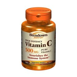 Sundown Naturals- Vitamin C, 500mg, Ascorbic Acid, 100 tablets