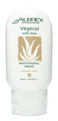 Aubrey Organics- Vegecol Moisturizing Aloe Cream, 2oz