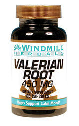 Windmill- Valerian Root, 450mg , 60 Capsules