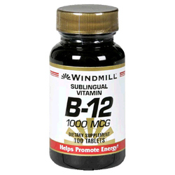 Windmill- Vitamin B-12, 1000mcg Sublingual, 100 Tablets