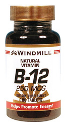 Windmill- Vitamin B-12, 250 mcg, 100 Tablets