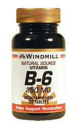 Windmill- Vitamin B-6, 250mg, 60 Tablets