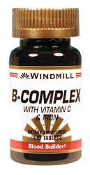Windmill- Vitamin B-Complex with Vitamin C & Iron, 100 Tablets