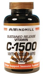 Windmill- Vitamin C, 1500mg with Rose Hip, 60 Tablets