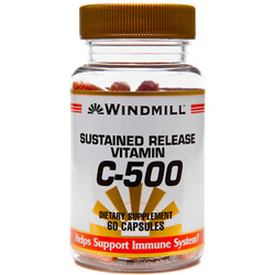 Windmill- Vitamin C, 500mg Sr, 60 Capsules