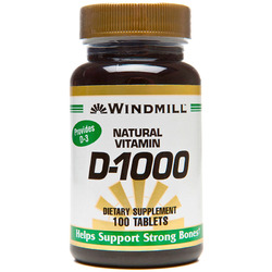 Windmill- Vitamin D-1000IU, 100 Tablets