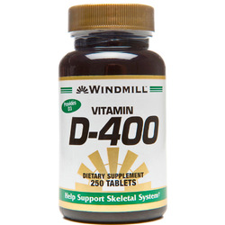 Windmill- Vitamin D-400IU, 250 Tablets