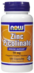 Now Foods- Zinc Picolinate, 50mg, 120 capsules