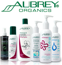 grouped aubrey organics products for display
