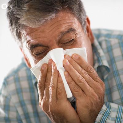 immune system Man Sneezing